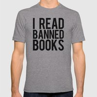 Banned Books REvised Mens Fitted Tee Athletic Grey SMALL