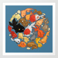 For The Love Of Goldfish Art Print