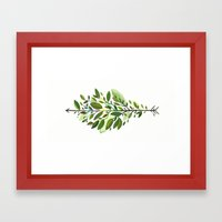 Leaf Arrow Framed Art Print