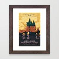 Hopewell Rocks Poster Framed Art Print
