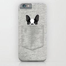 Pocket Boston Terrier - Black iPhone 6 Slim Case