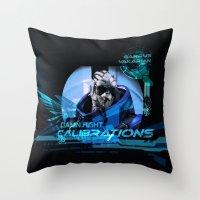 Garrus Vakarian With Sha… Throw Pillow