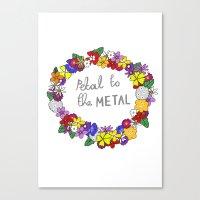 Petal to the metal  Canvas Print