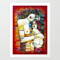 MADONE (hommage to Klimt) Art Print