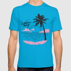 Catalina Breeze Mens Fitted Tee Teal SMALL