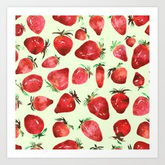 Strawberry vibes Art Print