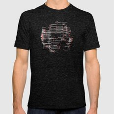 Grid Work Mens Fitted Tee Tri-Black SMALL