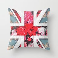Throw Pillow featuring God Save The Queen | Ele… by Girly Trend