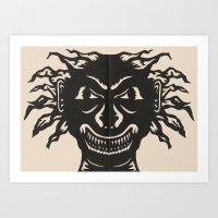 Extremely Sharp Teeth Art Print