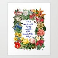Faith And Love Art Print