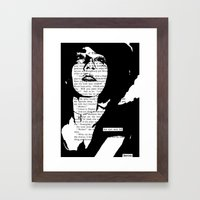 Her Eyes Were Full Framed Art Print