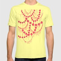 Pearl Necklace Mens Fitted Tee Lemon SMALL