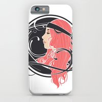 iPhone & iPod Case featuring Art Nouveau Goddess by Hand Drawn Creative