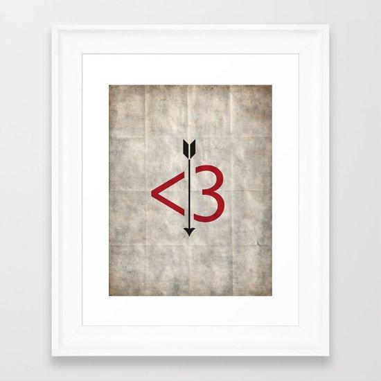 A Typo Love Framed Art Print