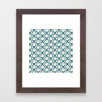 Cupcake Ovals Framed Art Print