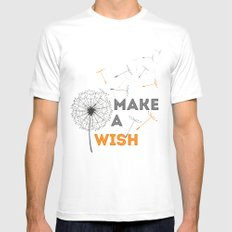 Make a wish orange Mens Fitted Tee White SMALL