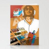 cassette man Stationery Cards