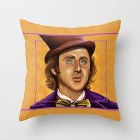 The Wilder Wonka Throw Pillow