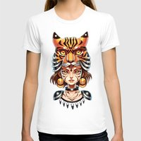 Tiger Tribe Womens Fitted Tee White SMALL