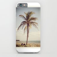 iPhone & iPod Case featuring Palm Tree Water Tropical Plant Color Photography by ginaphoto