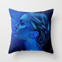 Blauw Throw Pillow