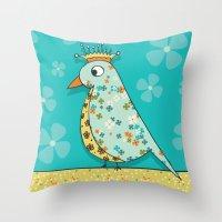 Tweedle De De Throw Pillow