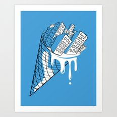 Snowy City Art Print