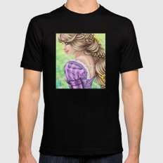 Rapunzel Portrait Black SMALL Mens Fitted Tee