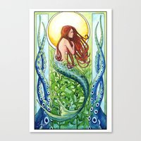 Kelp Forest Mermaid Canvas Print