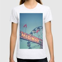 Midway Womens Fitted Tee Ash Grey SMALL