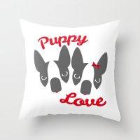 Puppy Love. Throw Pillow