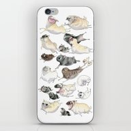 Pugs On The Run! iPhone & iPod Skin