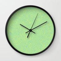 Abstract #002 Cells (Green) Wall Clock