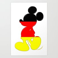 German Mickey Maus Art Print