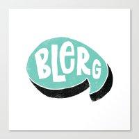 BLERG Canvas Print