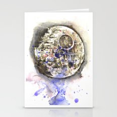 Star Wars Art Painting The Death Star Stationery Cards