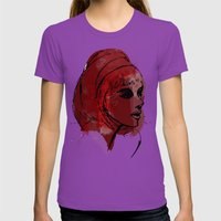 Red Womens Fitted Tee Ultraviolet SMALL
