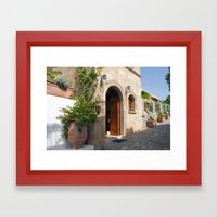 Greek Doorway Framed Art Print