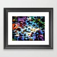 Pebbles In Snow Framed Art Print