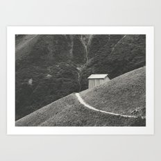 HILLSIDE HUT Art Print