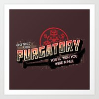 Greetings From Purgatory… Art Print