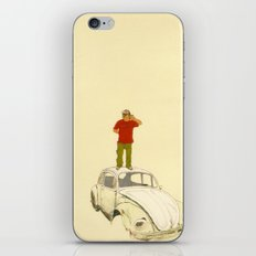 man listening the universe iPhone & iPod Skin