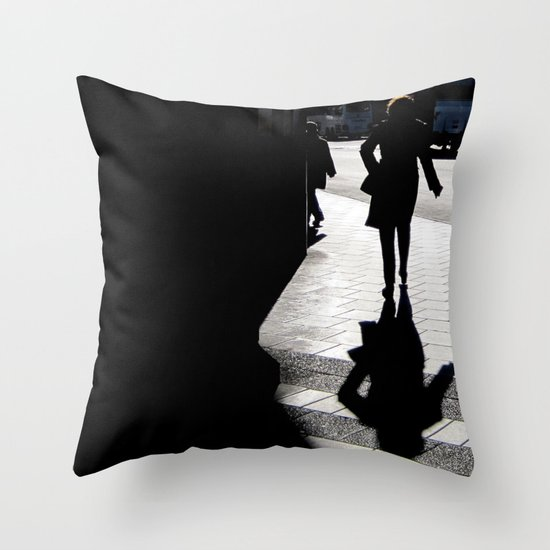 Me, myself and my shadow Throw Pillow