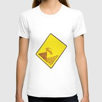 CAR IN THE SEA  Womens Fitted Tee White SMALL