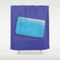 White Club Shower Curtain