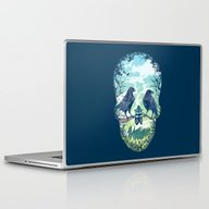 Laptop & iPad Skin featuring Nature's Skull by Rachel Caldwell