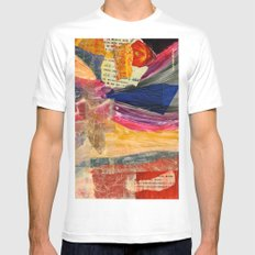 Collage Love - Asian Tie SMALL White Mens Fitted Tee