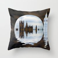 Manipulated Politics Throw Pillow