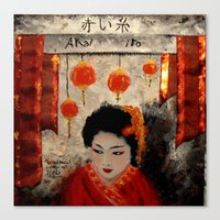 THE RED THREAD Canvas Print