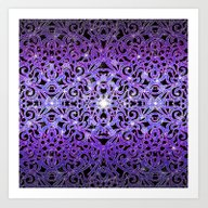 Floral Abstract Backgrou… Art Print